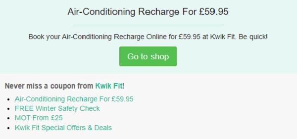 Kwik Fit discount code