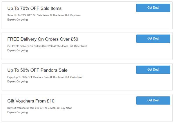 The Jewel Hut discount codes