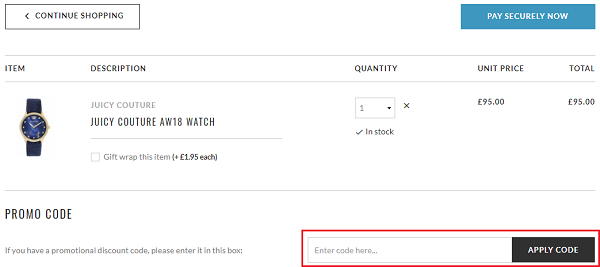 discount code for The Watch Hut