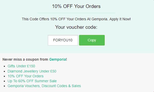 Gemporia discount code