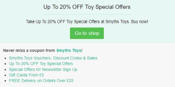 Smyths Toys promo code