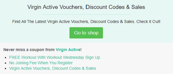 Virgin Active discount