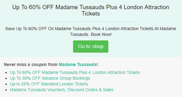 Madame Tussauds discount code