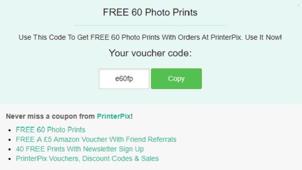 PrinterPix voucher
