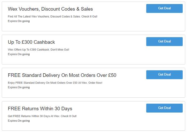 Wex discount codes