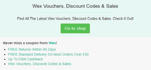Wex discount code