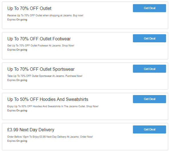 Jacamo discount codes