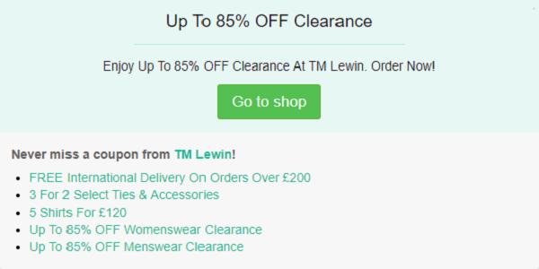 T.M Lewin discount code