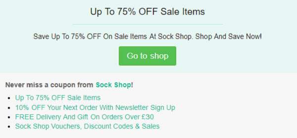 Sock Shop Voucher Codes Free Delivery Student Discount