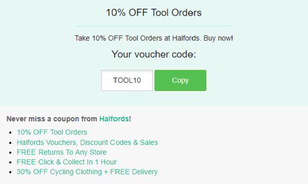 Halfords discount code