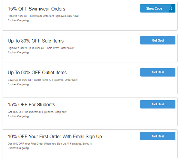 Figleaves discount codes