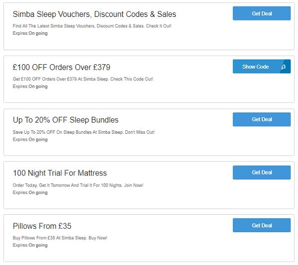 Simba discount codes