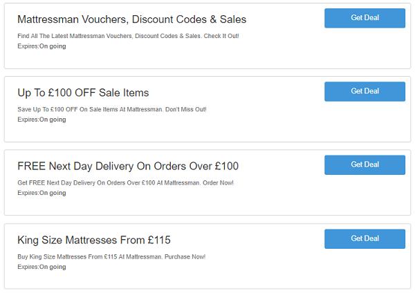 Mattressman discount codes