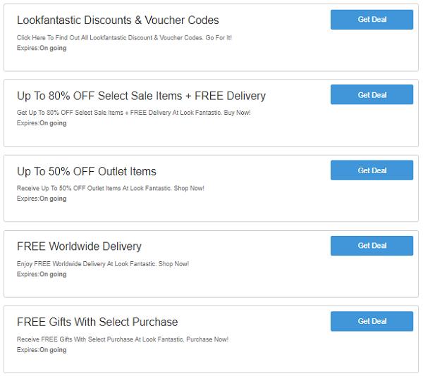 Look Fantastic discount codes