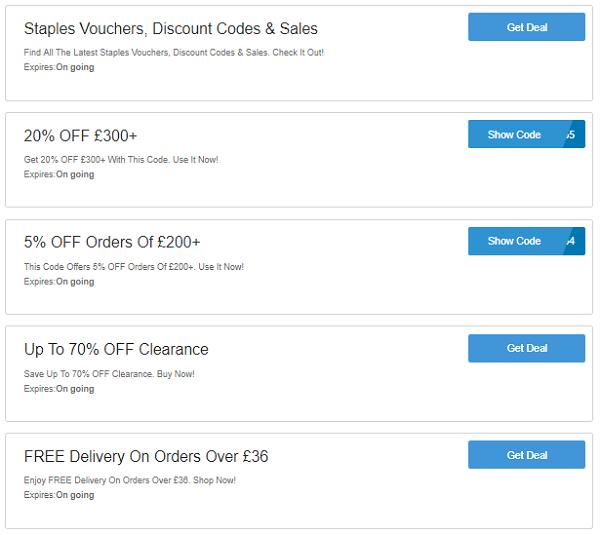 Staples discount codes