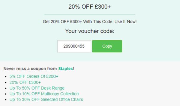 Staples discount code