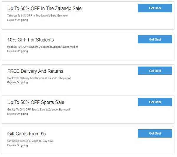Zalando discount codes