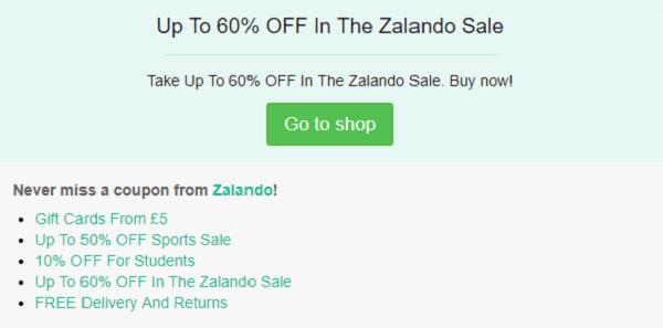 Zalando discount code