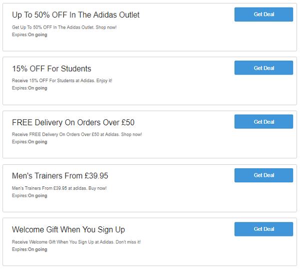 Adidas discount codes