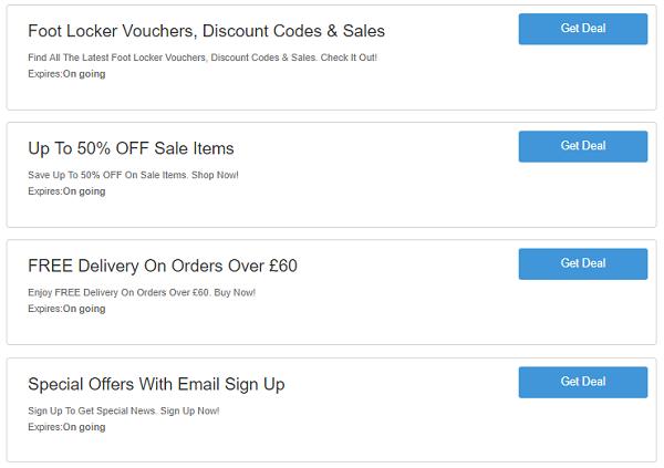 Foot Locker discount codes