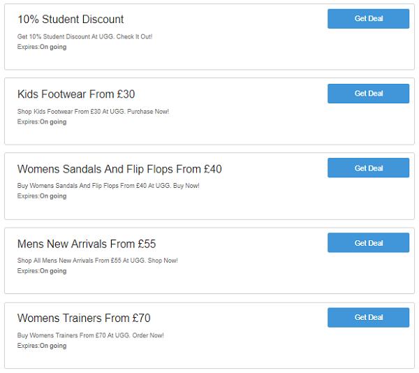 UGG discount codes