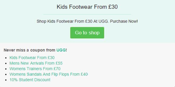 UGG discount code