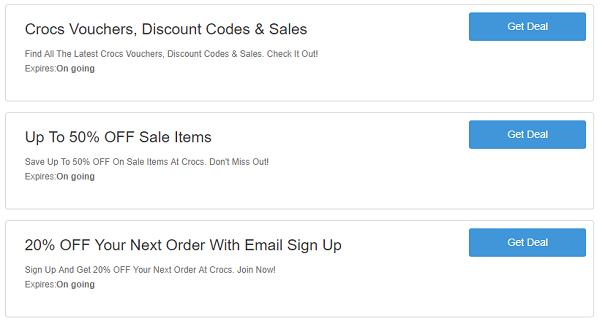 Crocs discount codes