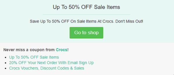 Crocs discount code