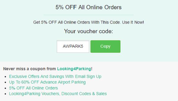 Looking4parking discount code