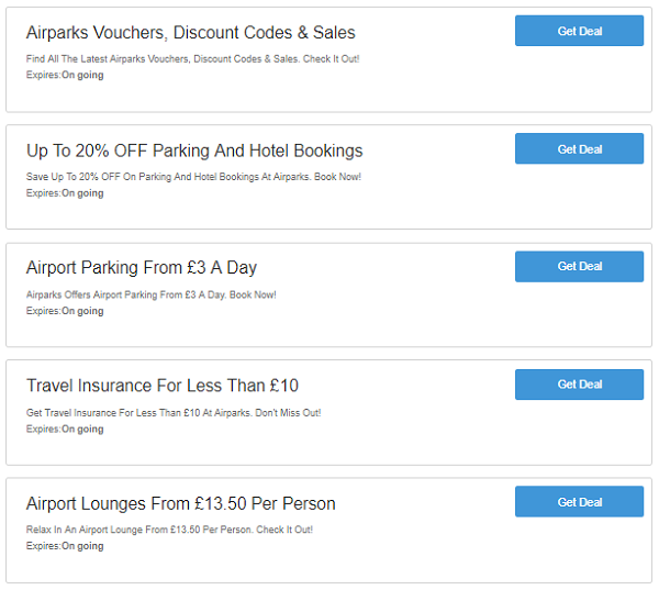 Airparks discount codes