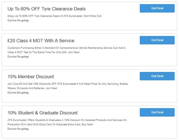 ATS Euromaster discount codes