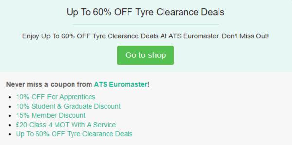 ATS Euromaster discount code