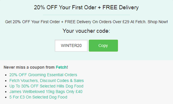 Fetch voucher code