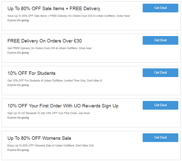 Urban Outfitters Discount Codes Vouchers 04 2019 Tested