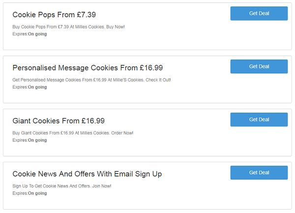 Millies Cookies vouchers