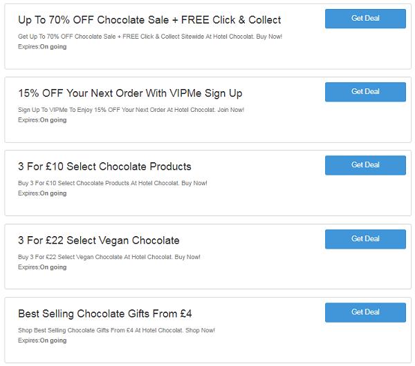 Hotel Chocolat voucher codes