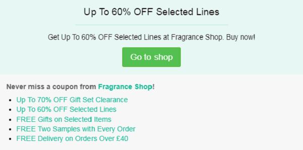 Fragrance Shop discount code