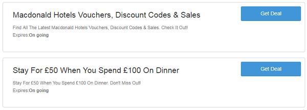 Macdonald Hotels discount codes