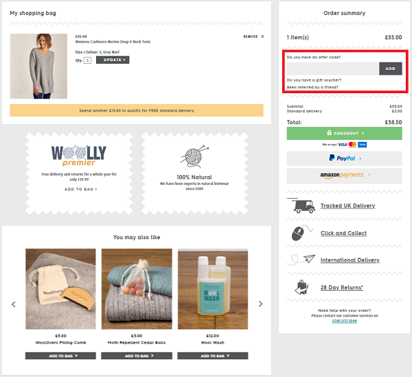 WoolOvers discount voucher