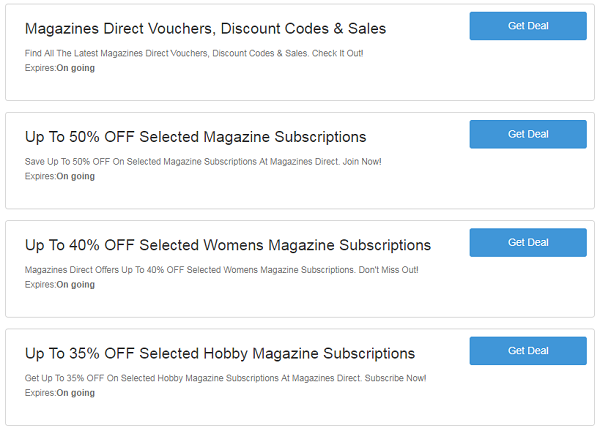 Magazines Direct Discount Codes & Vouchers For 2019 | TESTED