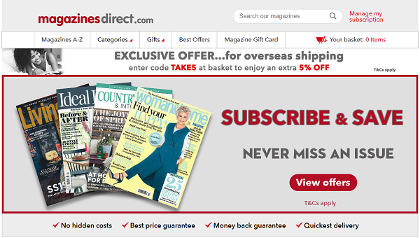 discount codes for Magazines Direct