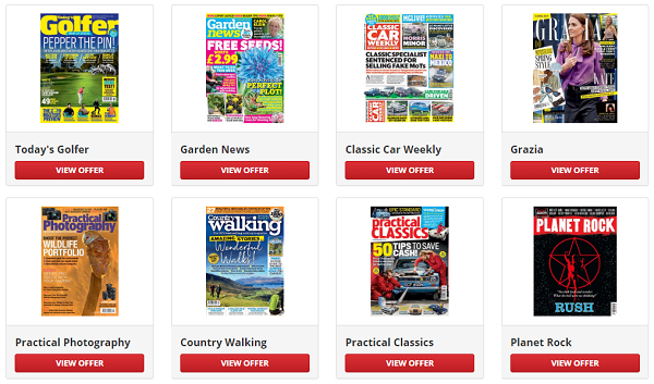 voucher codes for Great Magazines