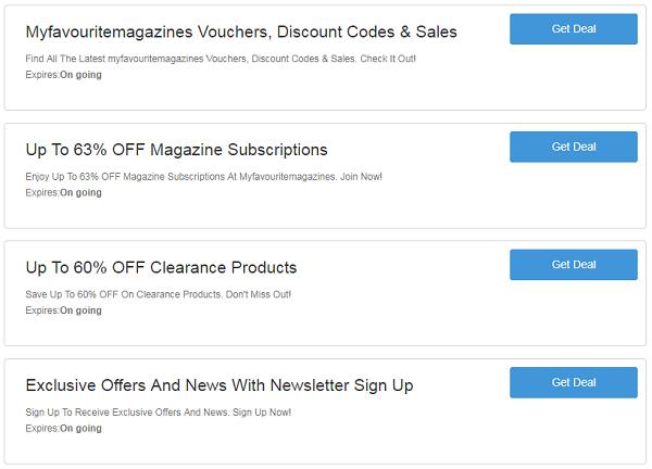 Myfavouritemagazines promo codes