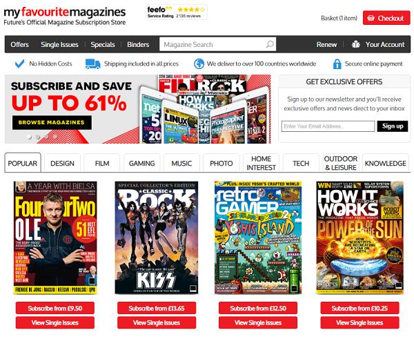 promo codes for Myfavouritemagazines