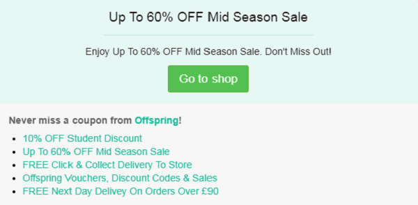 Offspring discount code