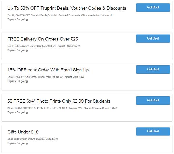 Truprint discount codes