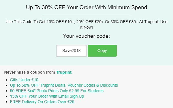 Truprint discount code