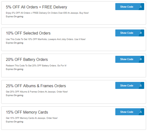 Jessops discount codes