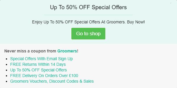 Groomers discount code