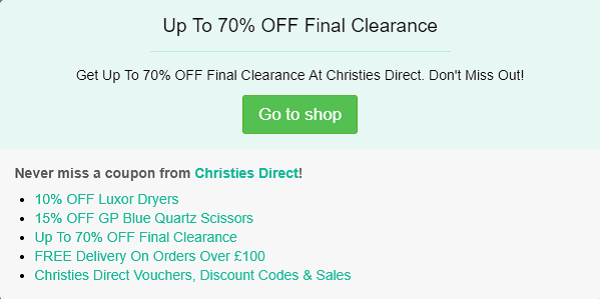 Christies Direct discount code